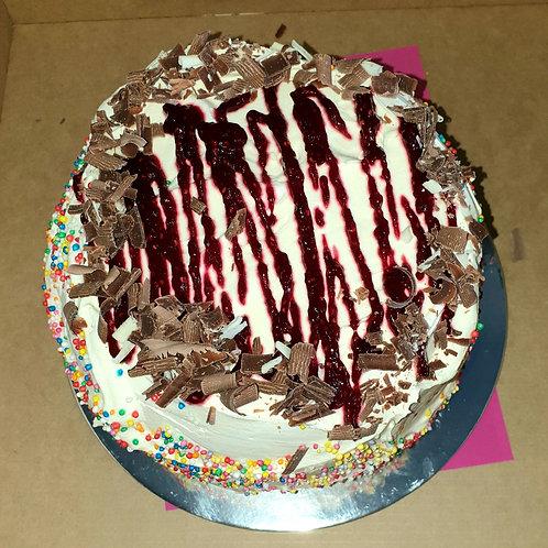 ICE CCREAM CAKE ROUND HALF SIZE (RASPBERRY)