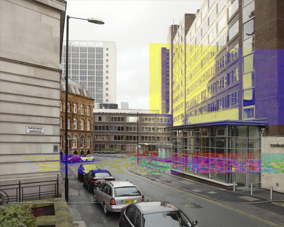 """0840 GMT"", Parsonage Gardens, Manchester, 100x125 cm, Digital Pigment-Print, 2011"
