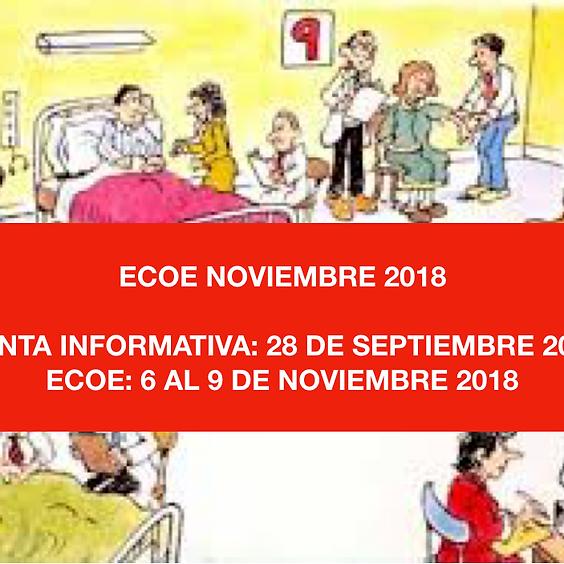 JUNTA INFORMATIVA ECOE PROFESIONAL DE NOVIEMBRE 2018.