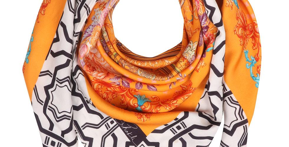 Orange Blossom Silk Scarf