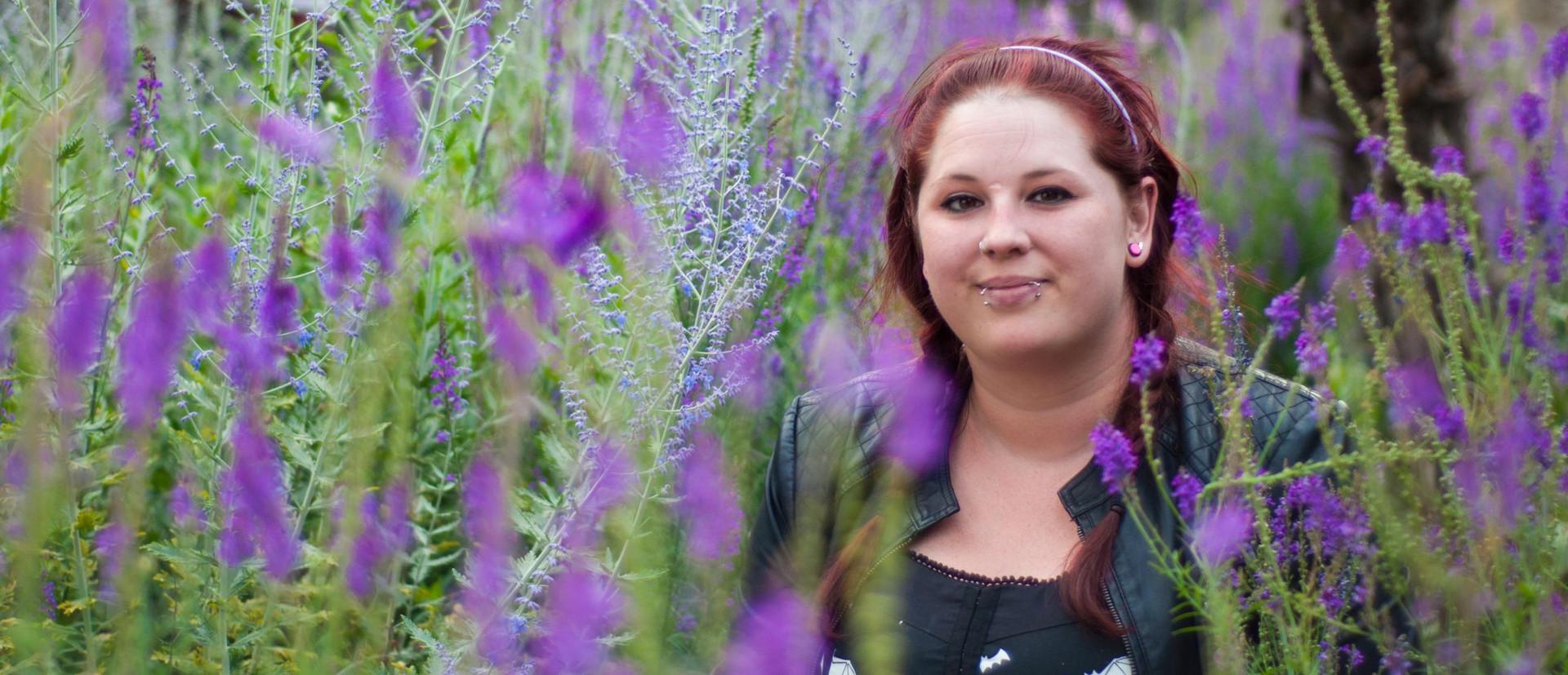 chessie in the lavender .JPG