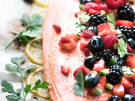 Lisa's Glorious Grilled Salmon with Berry Salsa