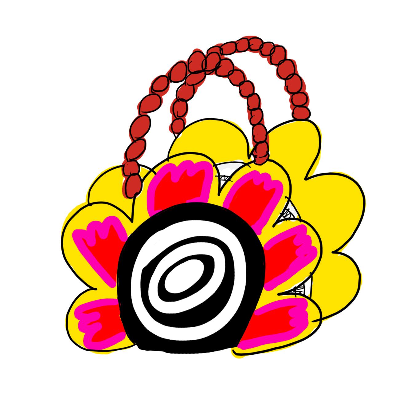 FLOWER ENAMEL BAG