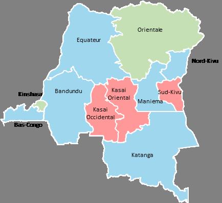 Democratic Republic of Congo - Editable map