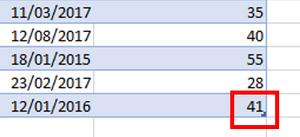 Excel Tables - Handle