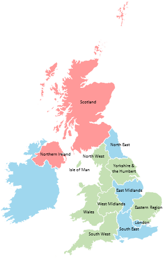 United Kingdom - Editable map