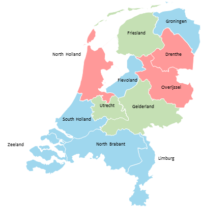 Netherlands - Editable map