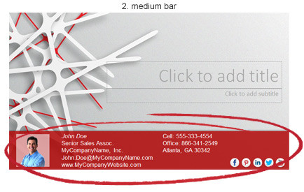PowerPoint add-in l Advanced Contact Bar