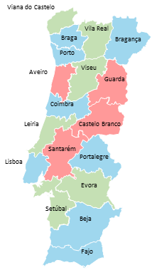 Portugal - Editable map