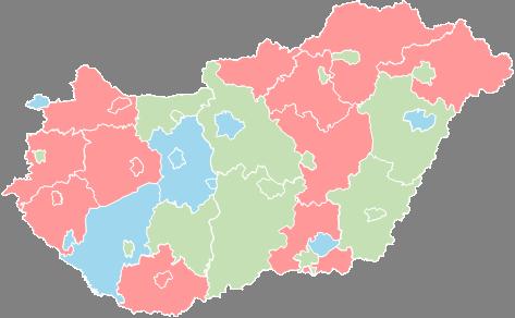 Hungary - Editable map