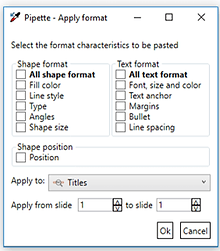 Power-user PowerPoint and Excel plugin Pipette formatting tool
