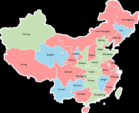 China provinces - Editable map