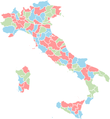 Italy districts - Editable map