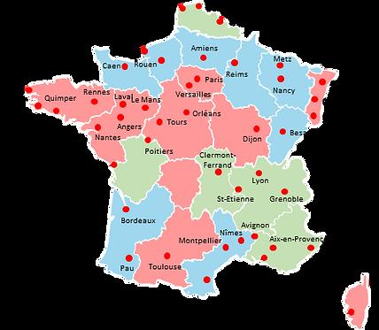 France cities - Editable map