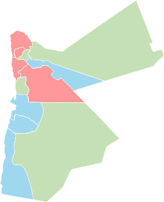 Jordan - Editable map