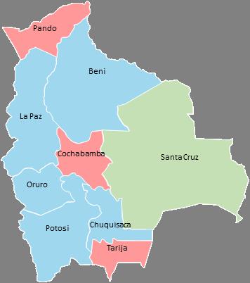 Bolivia - Editable map