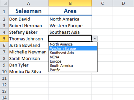 How to create simple or dynamic drop-down lists in Excel