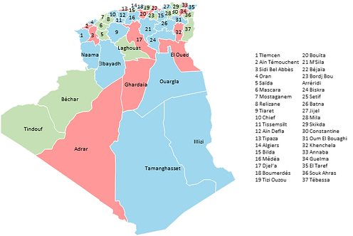 Algeria - Editable map