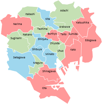 Tokyo - Editable map