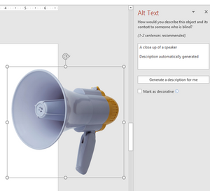 Showing and editing Alt text in PowerPoint