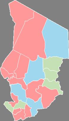 Chad - Editable map