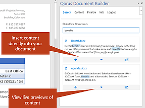 Word add-in l Qorus Document Builder for Word
