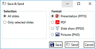Power-user add-in l Save and send slides