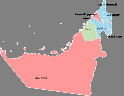 United Arab Emirates - Editable map