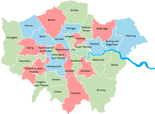 London - Editable map