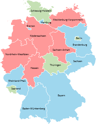 Germany - Editable map