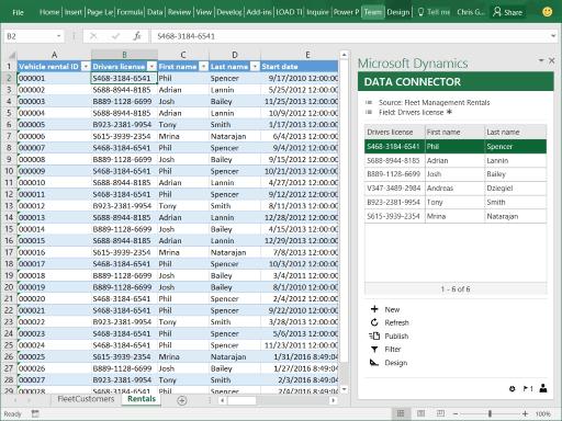 Excel add-in - Microsoft Dynamics
