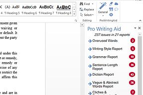 Word add-in l ProWritingAid