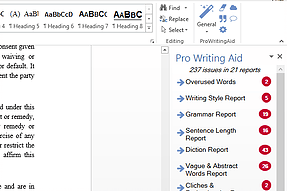 Word add-in l ProWritingAid