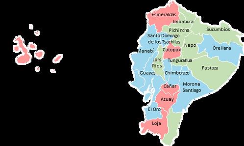 Ecuador - Editable map