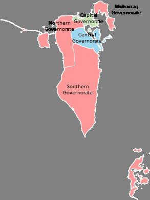 Bahrain - Editable map