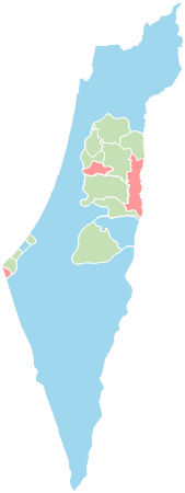 Palestine - Editable map