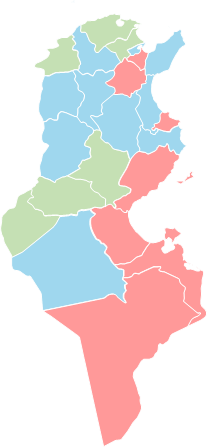 Tunisia - Editable map
