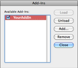 Add, load or remove add-ins on Mac for PowerPoint, Excel or Word