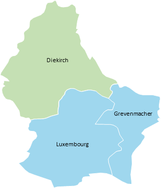 Luxemburg - Editable map