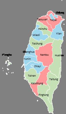 Taiwan - Editable map