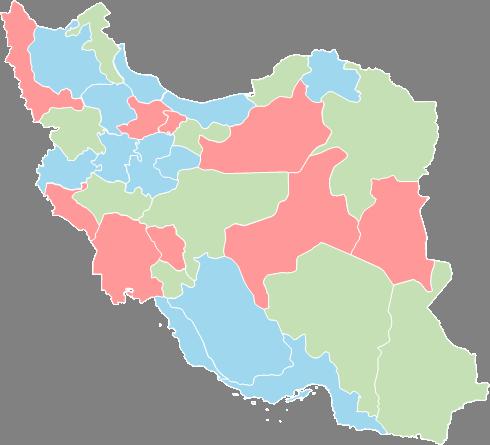 Iran - Editable map