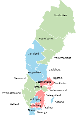 Sweden - Editable map