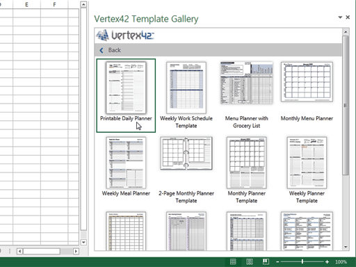 Excel add-in - Vertex42 Templates Gallery