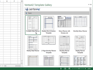 Excel add-in - Vertex42 Templates Gallery
