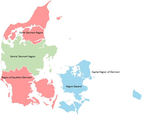 Denmark - Editable map