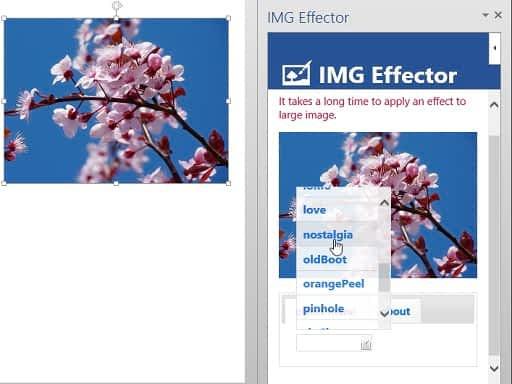 Word add-in l IMG Effector