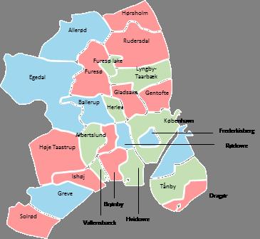 Copenhagen - Editable map