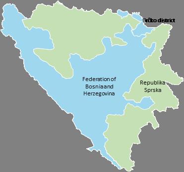 Bosnia - Editable map