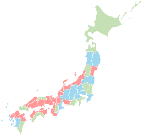 Japan ward - Editable map