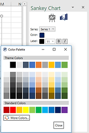 Power-user plugin for PowerPoint and Excel - Sankey chart - Series options